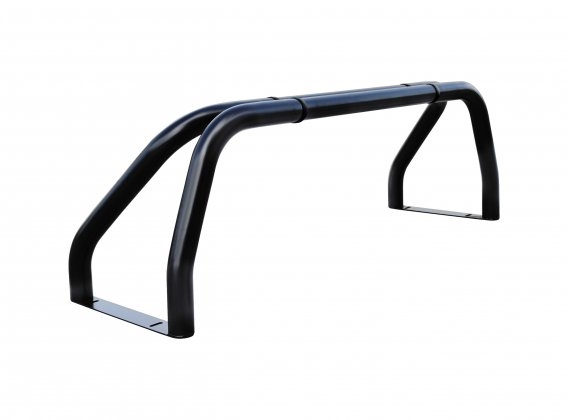 Roll Bar Negro mate 2 piernas de la pipa dividida inoxidable
